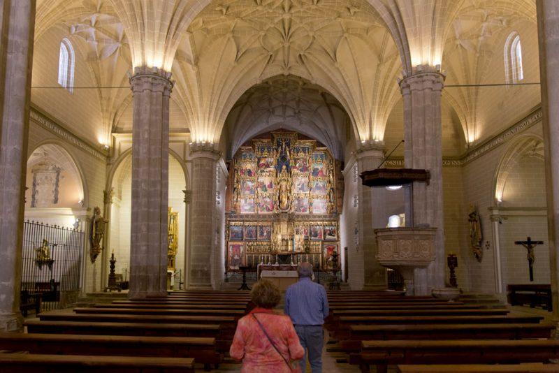Colegiata de Bolea. Espectacular retablo policromado
