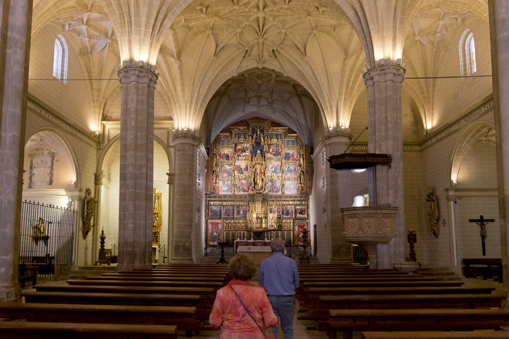 colegiata de bolea espectacular retablo policromado