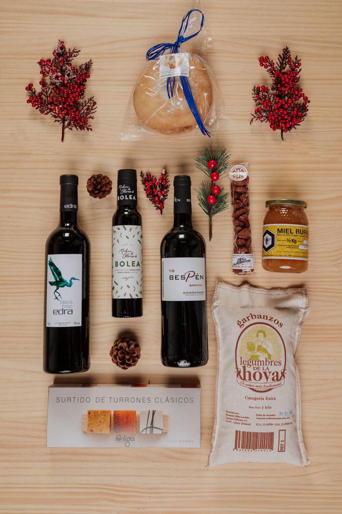 cesta de navidad aguinaldo Saboreando Hoya de Huesca